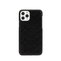 Coach Leather Slim Wrap (for iPhone 12 Pro Max) Signature C Embossed Black 191058123657