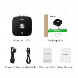 UGREEN Wireless Bluetooth Audio Receiver 4.2 with 3.5mm and 2RCA Adapter-40759