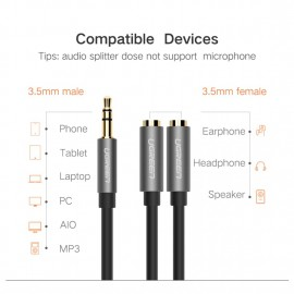 UGREEN 3.5mm AUX Stereo audio Splitter Cable-10532