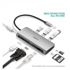 UGREEN Type C Multifultional Converter 9 in 1 Gray-40873