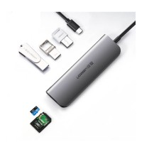 UGREEN TYPE C to SD+TF+3*USB 3.0 +PD Converter 6 in 1-50598