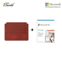 Microsoft Surface Go Signature Type Cover Poppy Red KCS-00098 + 365 Personal (ESD)