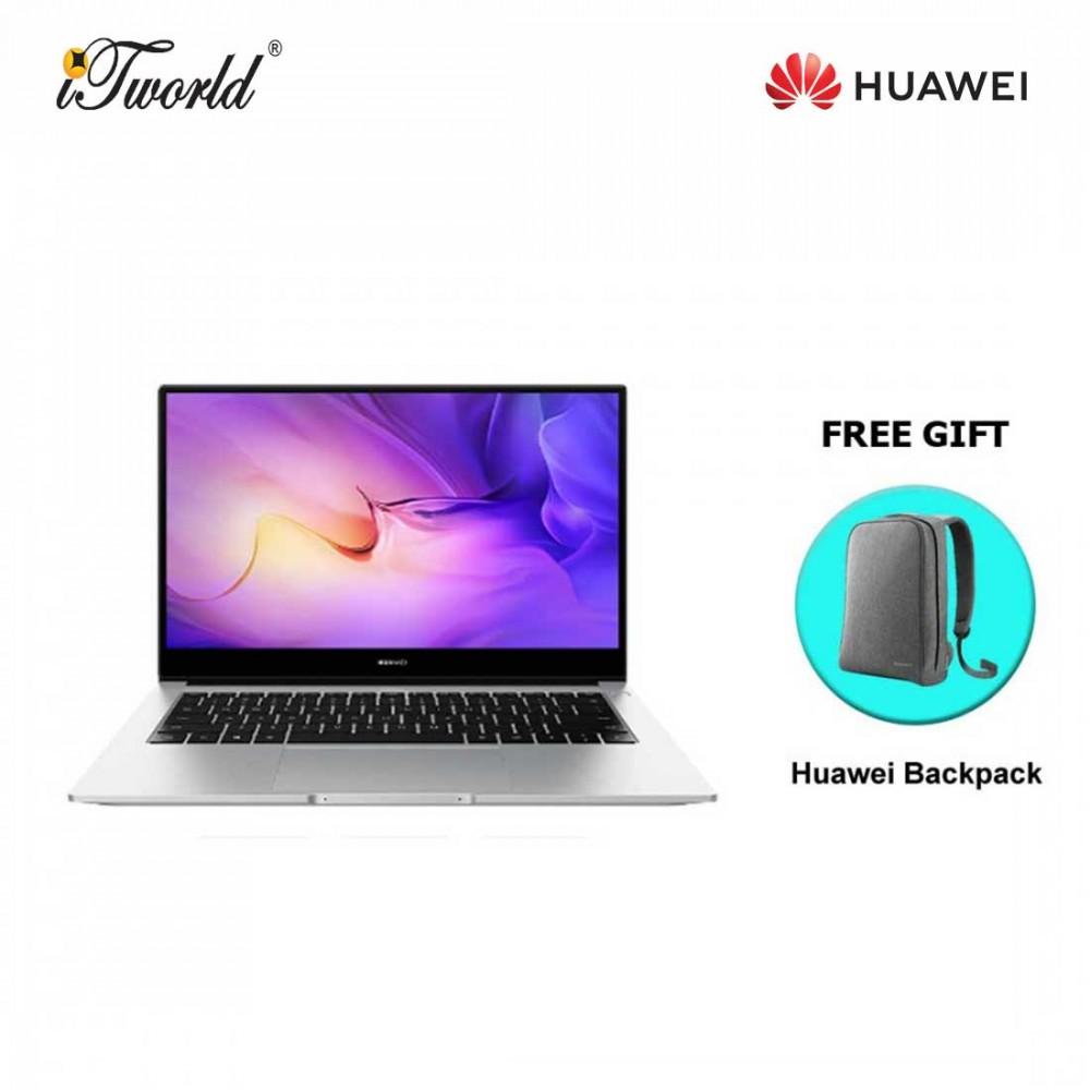 Huawei Matebook D14 (Intel i5 10th Gen ,16GB,512GB SSD)-53012BYM + FREE Huawei CD60 Matebook Series Laptop Backpack Grey