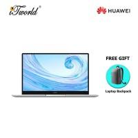 Huawei Matebook D15 (10th Gen i5, 8GB, 512GB,2021 model) FREE Huawei CD60 Matebook Series Laptop Backpack Grey + 365 Personal (While Stock Last)