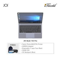 "JOI Book 155 Pro (N4120,4GB+64GB,14"" FHD,W10Pro) + Canon Pixma MG2570s Printer + UGREEN Mini HDMI Male To HDMI Female Adapter - 20101 + Disposable 3 Layer Face Mask 1 Box/50pcs + 256GB SSD + JOI Backpack (Blue)"