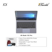 "JOI Book 155 Pro (N4120,4GB+64GB,14"" FHD,W10Pro) + Canon Pixma MG2570s Printer + UGREEN Mini HDMI Male To HDMI Female Adapter - 20101 + Disposable 3 Layer Face Mask 1 Box/50pcs + 256GB SSD + JOI Backpack (Red)"