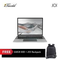 """JOI Book 200 Pro (Pentium J3710,4GB,64GB,13.5"""",W10Pro,GRY) + Free 256GB SSD + JOI Backpack Black"""