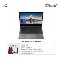 "JOI Book Touch 330 Pro (N4120,4GB+64GB,13.3"" FHD,W10Pro) + 256GB SSD + UGREEN USB-C To 3*USB 3.0 A+HDMI+VGA+RJ45 Gigabit+SD/TF+AUX3.5mm+PD Converter Adapter + Disposable 3 Layer Face Mask + JOI Active Pen Pro 330 + JOI Backpack (Red)"