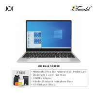 "JOI Book SK3000 (Qualcomm SDM850,Kryo385,4GB,128GB SSD,12.5"",W10Pro,LTE) + Microsoft Office 365 Personal (ESD) + Disposable 3 Layer Face Mask + UGREEN USB-C 3.1 male to USB 3.0 female adapter + Abodos Bluetooth Headphone Black + JOI Backpack (Black)"