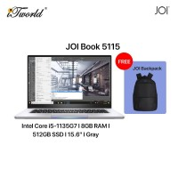 """JOI Book 5115 (i5-1135G7/8GB/512GB SSD/15.6""""/Gray) Free JOI Backpack"""