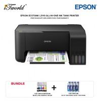 Epson EcoTank L3110 USB All-in-One Ink Tank Printer *Bundle 1 set CMYK ink