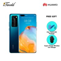 Huawei P40 Pro 5G 8GB+256GB Deep Sea Blue [FREE Huawei Super Charge Wireless Car Charger + Premium Gift Box (Headset/Selfie Stick/iRing)]