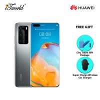 Huawei P40 Pro 5G 8GB+256GB Silver Frost [FREE Huawei City Travel Gift Package (Pkg Promo) HWP0052 + Huawei Super Charge Wireless Car Charger]